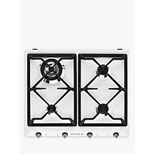 Buy Smeg SR964BGH Victoria Gas Hob, White Online at johnlewis.com