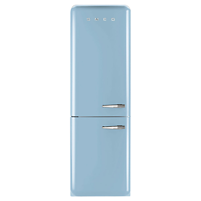 Image of Smeg FAB32LNA Freestanding Fridge Freezer, A++ Energy Rating, Left-Hand Hinge, 60cm Wide, Pastel Blue