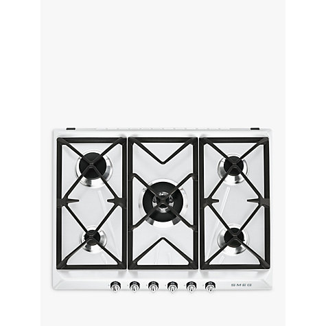 buy smeg sr975bgh victoria gas hob white john lewis. Black Bedroom Furniture Sets. Home Design Ideas