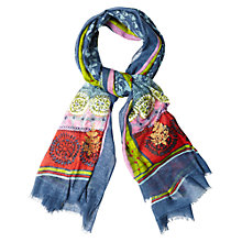 Buy White Stuff Patchwork Elephant Print Scarf, Multi Online at johnlewis.com