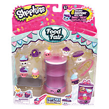 Buy Shopkins Food Fair: Cupcake Collection Playset Online at johnlewis.com