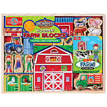 Buy T.S.Shure ArchiQuest Wooden Farm Blocks Play Set And Storybook Online at johnlewis.com