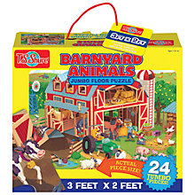 Buy T.S.Shure Barnyard Animals Jumbo Floor Puzzle Online at johnlewis.com