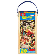 Buy T.S.Shure MagnaFun Farm Animals Wooden Magnets, Set of 20 Online at johnlewis.com
