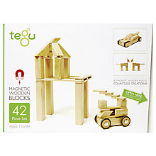Buy Tegu Natural Building Set, 42-Piece Online at johnlewis.com