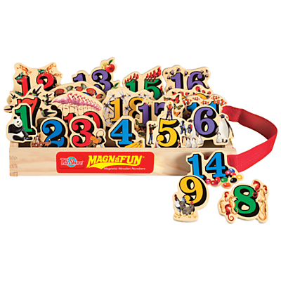 T.S.Shure MagnaFun Numbers Wooden Magnets, Set of 20