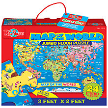 Buy T.S.Shure Map Of The World Jumbo Floor Puzzle Online at johnlewis.com