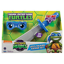 Buy Teenage Mutant Ninja Turtles Half-Shell Heroes: Leo's Talking Katana Set Online at johnlewis.com