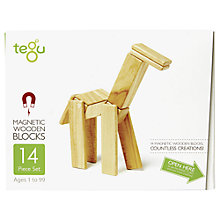 Buy Tegu Natural Building Set, 14-Piece Online at johnlewis.com