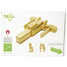 Buy Tegu Natural Building Set, 24-Piece Online at johnlewis.com