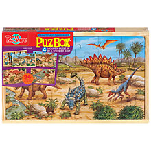 Buy T.S.Shure Prehistoric Dinosaurs PuzBox, Set of  4 Wooden Puzzles Online at johnlewis.com