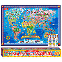 Buy T.S.Shure Map Of The World Pictorial Map Online at johnlewis.com