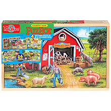 Buy T.S.Shure Country Farm PuzBox, Set of  4 Wooden Puzzles Online at johnlewis.com
