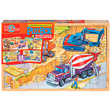 Buy T.S.Shure Construction Vehicles PuzBox, Set of 4 Wooden Puzzles Online at johnlewis.com