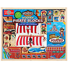 Buy T.S.Shure ArchiQuest Wooden Pirate Blocks Play Set And Storybook Online at johnlewis.com