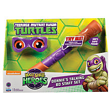 Buy Teenage Mutant Ninja Turtles Half-Shell Heroes: Donnie's Talking Bo Staff Set Online at johnlewis.com