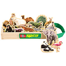 Buy T.S.Shure MagnaFun Wild Animals Wooden Magnets, Set of 20 Online at johnlewis.com
