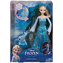 Buy Disney Frozen Ice Power Elsa Doll Online at johnlewis.com