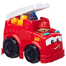 Buy Mega Bloks First Builders Freddy Fire Truck Online at johnlewis.com