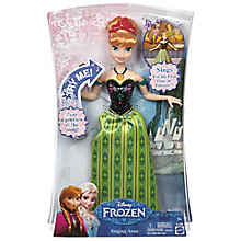 Buy Disney Frozen Singing Anna Doll Online at johnlewis.com