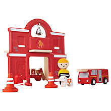 Buy Plan Toys Fire Station Play Set Online at johnlewis.com