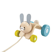 Buy Plan Toys Hopping Rabbit Pull Along Online at johnlewis.com