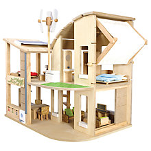 Buy Plan Toys Green Dollhouse Online at johnlewis.com
