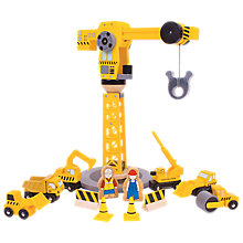Buy Bigjigs Big Crane Construction Set Online at johnlewis.com