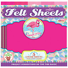 Buy Eeboo Felt Sheets, Pack of 5, Flamingo Online at johnlewis.com