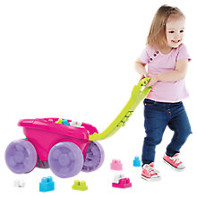 Buy Mega Bloks Scooping Wagon, Pink Online at johnlewis.com