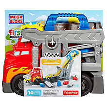 Buy Mega Bloks First Builders Fast Tracks Racing Rig Online at johnlewis.com
