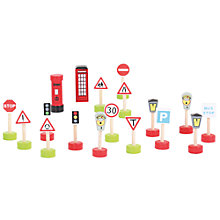Buy Bigjigs Road Signs Pack Online at johnlewis.com