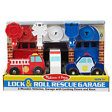 Buy Melissa & Doug Lock & Roll Rescue Garage Set Online at johnlewis.com