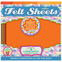 Buy Eeboo Felt Sheets, Sun Colours, Pack of 5 Online at johnlewis.com