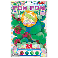 Buy Eeboo Pom- Poms, Green, Pack of 36 Online at johnlewis.com