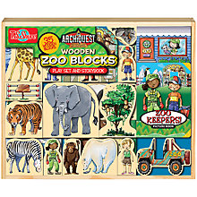 Buy T.S.Shure ArchiQuest Wooden Zoo Blocks Play Set And Storybook Online at johnlewis.com