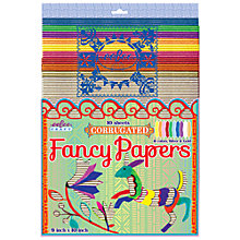 Buy Eeboo Corrugated Fancy Papers, Pack of 10 Online at johnlewis.com