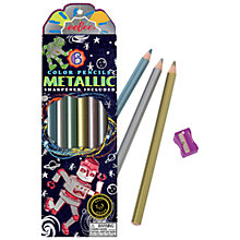 Buy Eeboo Robotic Metallic Coloured Pencils, Pack of 6 Online at johnlewis.com
