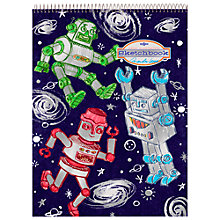 Buy Eeboo Silver Robots Sketchbook Online at johnlewis.com