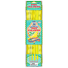 Buy Eeboo Pipe Cleaners, Yellow, Set of 36 Online at johnlewis.com