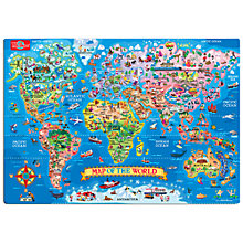 Buy T.S.Shure Map Of The World Magnetic Puzzle & Playboard Online at johnlewis.com