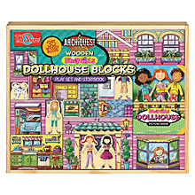 Buy T.S.Shure ArchiQuest Wooden Dollhouse Blocks Play Set And Storybook Online at johnlewis.com