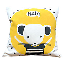 Buy Cathryn Weatherhead Mouse Cushion, Yellow Online at johnlewis.com