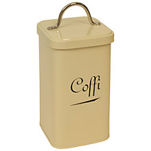 Buy J D Burford Coffi Canister, Cream and Chrome Online at johnlewis.com