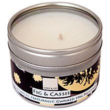 Buy Cole & Co Fig and Cassis Scented Candle Tin Online at johnlewis.com