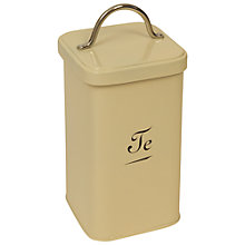 Buy J D Burford Te Canister, Cream and Chrome Online at johnlewis.com