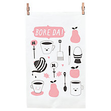 Buy Cathryn Weatherhead Bore Da Tea Towel Online at johnlewis.com