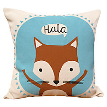 Buy Cathryn Weatherhead Fox Cushion, Blue Online at johnlewis.com