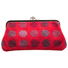 Buy Melin Tregwynt Mondo Spot Large Purse, Red Online at johnlewis.com