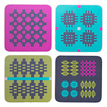 Buy Seld Vibrant Coasters, Set of 4 Online at johnlewis.com